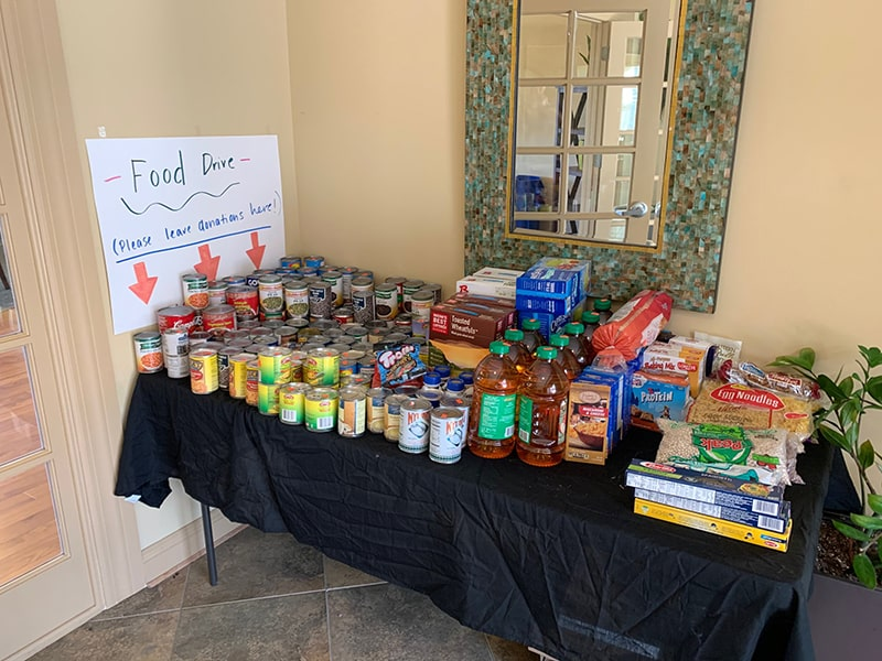 Landings at Weyers Cave Hosts Food Drive for Blue Ridge Area Food Bank