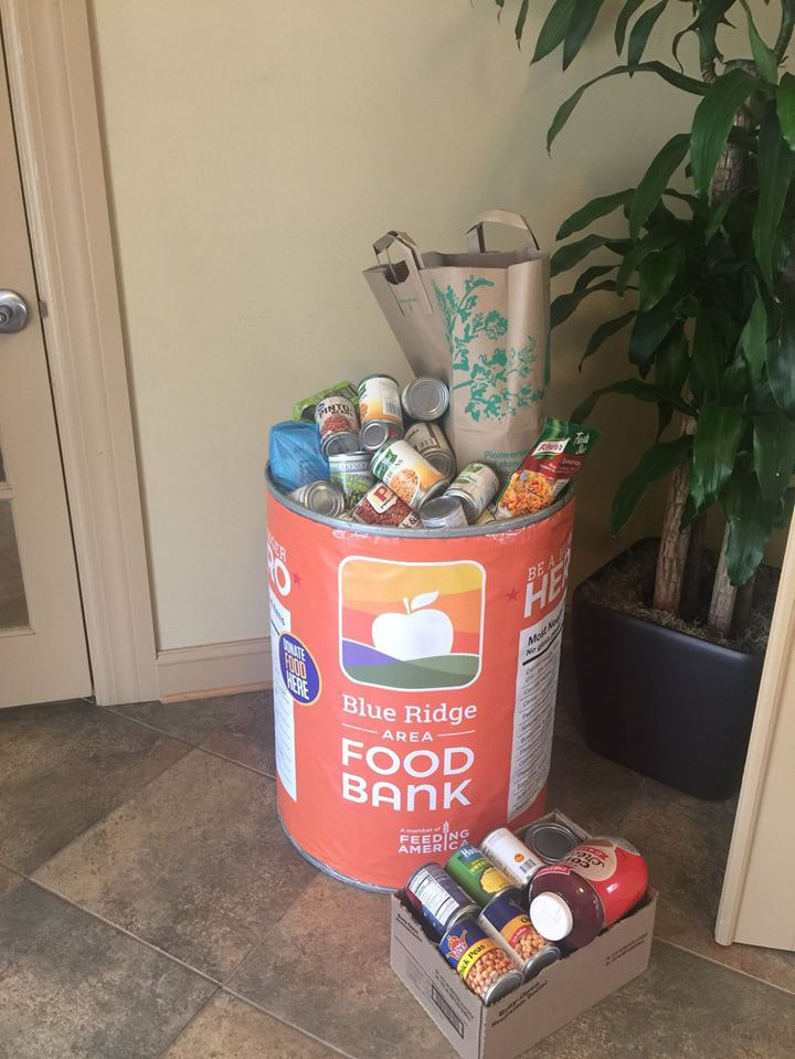 Blue Ridge Area Food Bank Receives Donations from Treesdale Apartments
