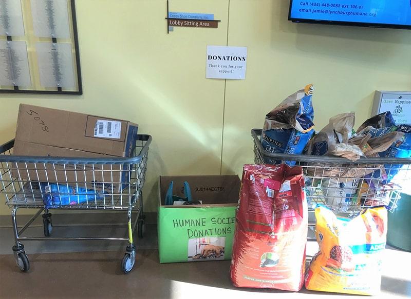 The Vistas at Dreaming Creek Donates to Lynchburg Humane Society