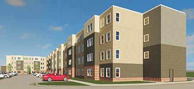 Gateway Senior Apartments Rendering